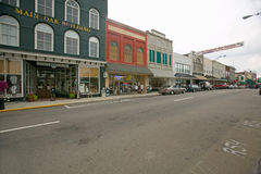 Main street in Mount Airy, North Carolina, the town featured in �Mayberry RFD� and home of Andy Griffith Stock Photos