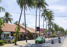 The main street at Mui Ne, Vietnam Stock Images