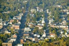 Main Street na cidade de Saco, Maine Imagens de Stock Royalty Free