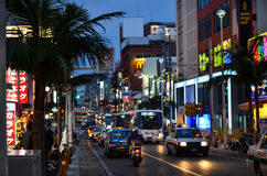 Main street, Naha City, Okinawa Royalty Free Stock Photo