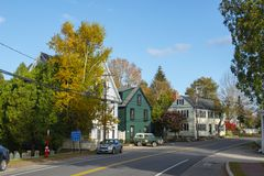Main Street in New Castle in NH, USA