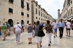 the main street in the old town of Dubrovnik Stock Photography