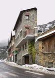 Main street in Ordino. Andorra Royalty Free Stock Image