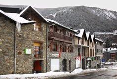 Main street in Ordino. Andorra.  Royalty Free Stock Photography