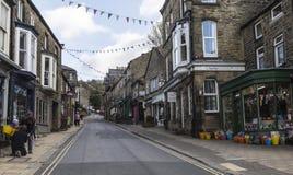 Main street through Pateley Bridge,North Yorkshire, England, UK. Stock Photo