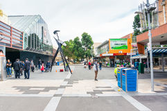 Main Street pedestrian mall in Box Hill, Melbourne Stock Images