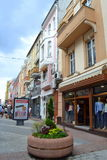 Main street Plovdiv Royalty Free Stock Photography