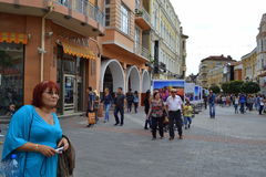 Main street Plovdiv Royalty Free Stock Image