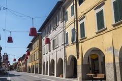 The main street of Ponsacco, Tuscany Royalty Free Stock Photos