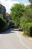 The main street in Prcanj Royalty Free Stock Photography