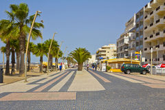 Main Street in Quarteira Royalty Free Stock Photo