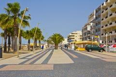 Main Street in Quarteira Royalty Free Stock Photo