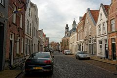 Main Street in Ravenstein, The Netherlands. Ravenstein is a city and a former municipality in the south of the Netherlands, in the province of North Brabant. It royalty free stock photography