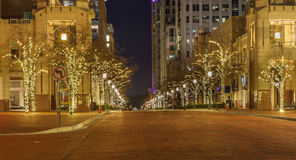 Main Street Through Reston Town Center Virginia Stock Image