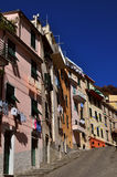 Main street in Riomaggiore Stock Photo