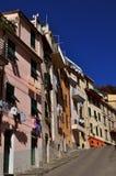 Main street in Riomaggiore Stock Photo