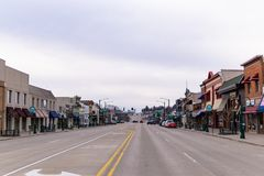 Main street Rochester Michigan royalty free stock photo