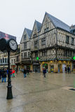 Main street rue de la liberte scene in Dijon Stock Image
