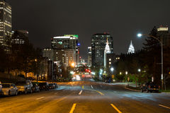 Main Street in Salt Lake City, Utah, at night. Main street in Salt Lake City downtown at night Stock Photography