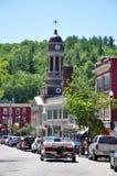 Main Street, Saranac See, New York, USA Lizenzfreies Stockbild