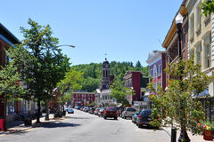 Main Street, Saranac See, New York, USA Stockbild
