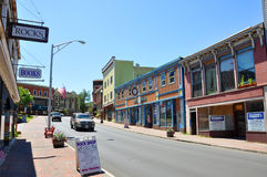 Main Street, Saranac See, New York, USA Stockfotografie