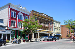Main Street, Saranac See, New York, USA Stockfotos