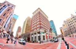 Main Street Scene at Downtown Fort Worth Texas Royalty Free Stock Photo