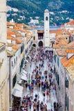 Main Street Scene, Dubrovnik Stock Images