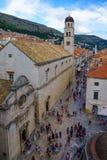 Main Street Scene, Dubrovnik Royalty Free Stock Images