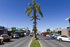 Main street  shopping strip Stock Images