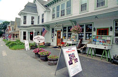 Main Street shops. And storefronts, Chester, Vermont stock photo