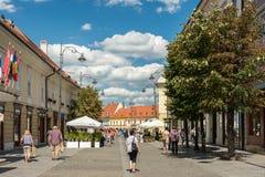 Main Street Sibiu du centre Image libre de droits