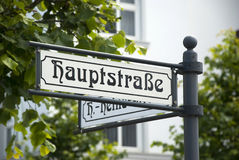 Main Street sign in Germany Royalty Free Stock Photos