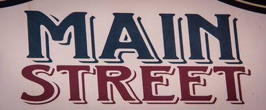 Main street sign. In a small town in the usa Royalty Free Stock Image