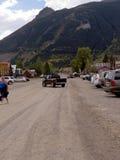 Main Street in Silverton eine alte silberne Bergbaustadt im Staat Colorado USA Lizenzfreies Stockfoto