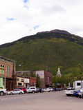 Main Street in Silverton eine alte silberne Bergbaustadt im Staat Colorado USA Lizenzfreies Stockbild