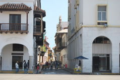 Main Street in small town close to Bogota Royalty Free Stock Image