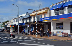 The Main Street of St Helliers Bay in Auckland, New Zealand Stock Photo