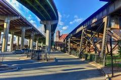 Main Street Station - Richmond, Virginia. Historic Main Street Station and Interstate-95 in Richmond, Virginia stock image