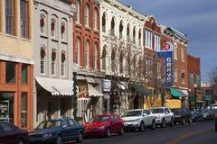 Main Street storico Immagini Stock Libere da Diritti
