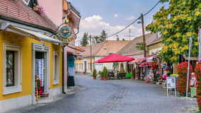 Main street of Szentendre in Hungary Stock Photos
