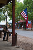 Main Street in Tombstone Arizona. Tombstone in Arizona where the Gunfight at the OK Corral was fought in the USA. It is called the Town too tough to die Stock Images