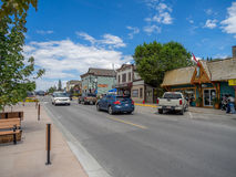 Main street in the town of Invemere Stock Photo