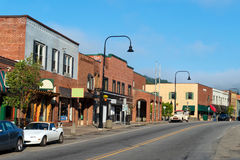 Main street. Typical Main street in small american town Stock Photography