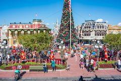 Main Street U.S.A. al regno magico, Walt Disney World Immagine Stock