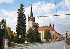 Main Street (ulica de Hlavna) em Presov slovakia Fotografia de Stock