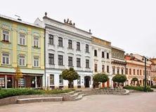 Main Street (ulica di Hlavna) in Presov slovakia Fotografia Stock Libera da Diritti