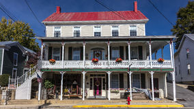 Main Street USA building in smalltown Virginia, October 26, 2016 Stock Photography