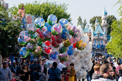 Main Street USA at Disneyland. Royalty Free Stock Images